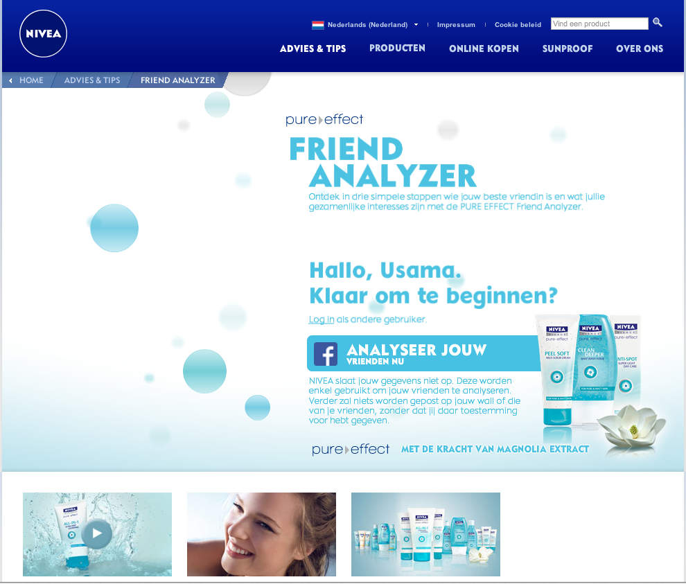 Nivea Friends Analyzer